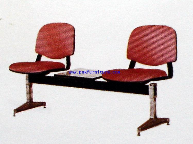 kkw8-7 เก้าอี้แถว 2 ที่นั่ง 1 ที่วางของหนัง ทั้งตัว