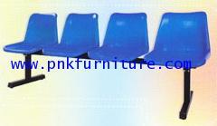 kkw8-5 เก้าอี้แถวโพลี 4 ที่นั่ง