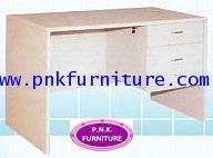 kkw11-1 โต๊ะทำงานไม้ปิดผิวเมลามีน 2 ลิ้นชัก