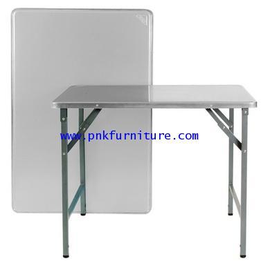 โต๊ะพับขาสวิง หน้าสแตนเลส kkw2-14