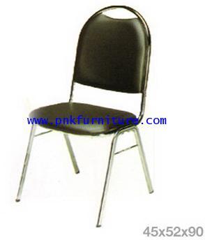 kkw7-14 เก้าอี้จัดเลี้ยง ขาเหล็กกลม ชุปโครเมี่ยม