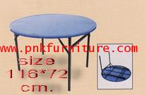 โต๊ะโรงอาหาร, โต๊ะกลมจีนขาซ่อน หน้าเหล็ก kkw2-17