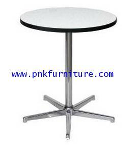 โต๊ะกลมคาเฟ่ ขา 5 แฉก ชุปโครเมี่ยม kkw2-22