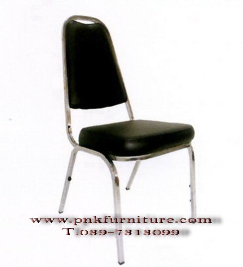 โต๊ะเก้าอี้นักเรียน เก้าอี้จัดเลี้ยงเบาะหนัง kkw1-22