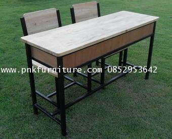 โต๊ะเก้าอี้นักเรียนระดับประถมแบบนั่งคู่ kkw1-29