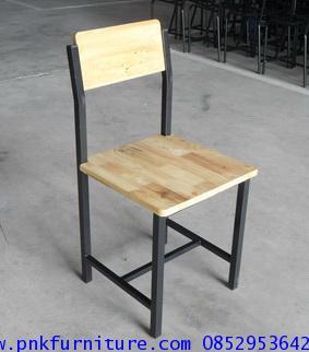 โต๊ะเก้าอี้นักเรียนระดับประถม-มัธยม ขาเหล็กกล่อง หน้าไม้ยางพารา kkw1-30