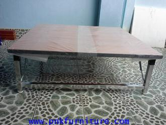 โต๊ะพับเอนกประสงค์ หน้าโต๊ะเมลามีน kkw2-24 2