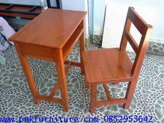 โต๊ะเก้าอี้นักเรียน ระดับประถม ไม้สักทอง kkw1-15 1