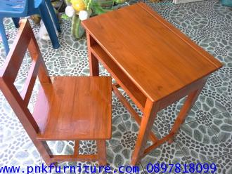 โต๊ะเก้าอี้นักเรียน ระดับประถม ไม้สักทอง kkw1-15 2