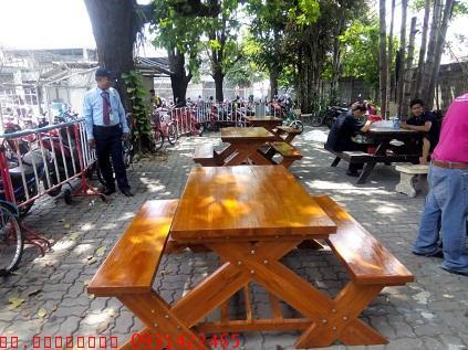 เก้าอี้สนาม,ม้านั่งสนาม,ชุดโต๊ะสนามไม้สักทอง ยาว 1.80เมตร kkw14-5 3