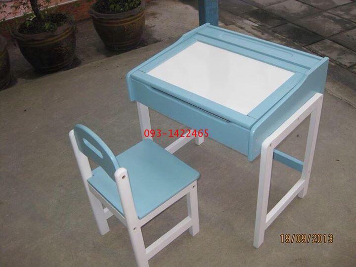 โต๊ะเก้าอี้นักเรียนระดับอนุบาล ไม้ยางพาราทำสี kkw1-39 1