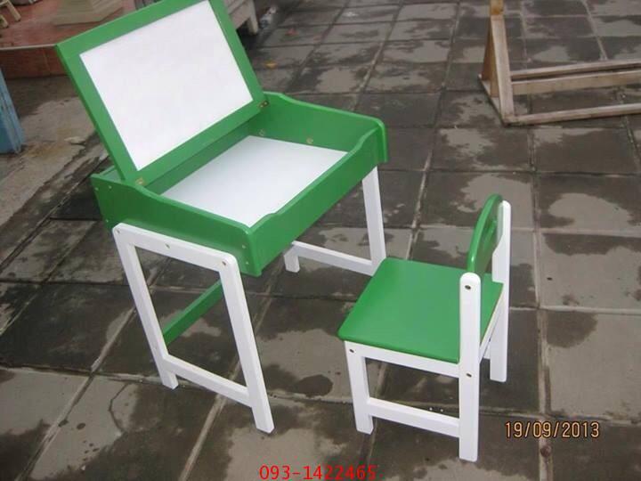 โต๊ะเก้าอี้นักเรียนระดับอนุบาล ไม้ยางพาราทำสี kkw1-39 2