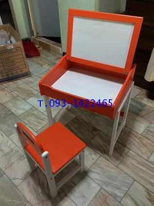โต๊ะเก้าอี้นักเรียนระดับอนุบาล ไม้ยางพาราทำสี kkw1-39