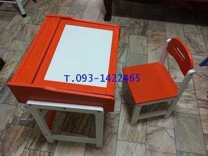 โต๊ะเก้าอี้นักเรียนระดับอนุบาล ไม้ยางพาราทำสี kkw1-39 3