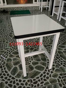 โต๊ะเก้าอี้นักเรียนห้องวิทยาศาสตร์ เก้าอี้ห้องปฏิบัติการ หน้าโฟเมก้า kkw1-41