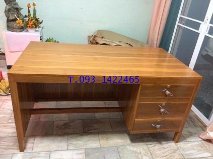 โต๊ะเก้าอี้นักเรียน โต๊ะทำงานไม้สัก kkw1-42