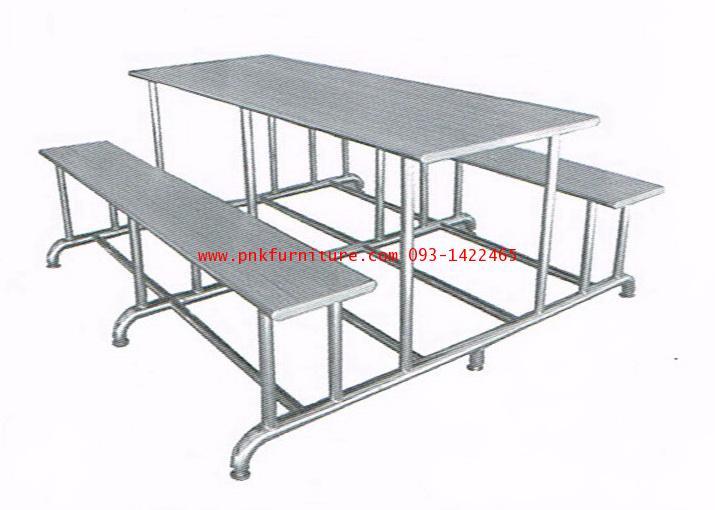 kkw19-7 โต๊ะโรงอาหารสแตนเลส