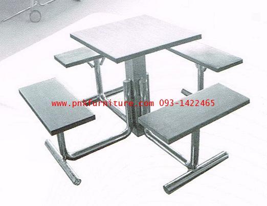 kkw19-8 โต๊ะโรงอาหารสแตนเลส