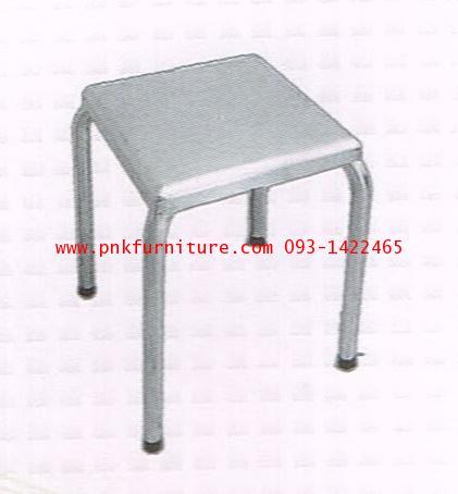 kkw19-12 เก้าอี้เหลี่ยม สแตนเลส