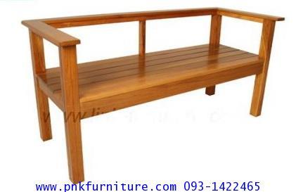 เก้าอี้สนาม, ม้านั่งสนาม มีพนักพิง ท้าวแขน kkw14-8