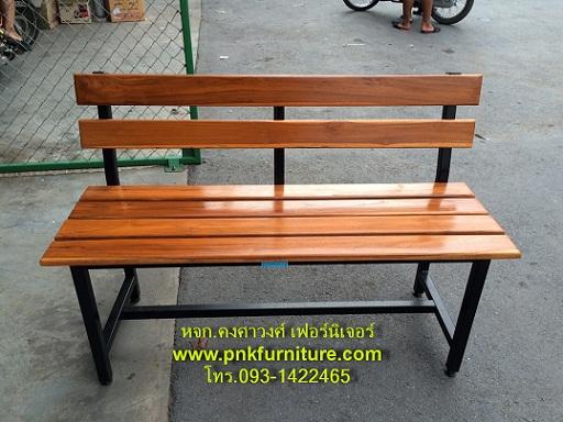 เก้าอี้สนาม, ม้านั่งสนามไม้ระแนง ขาเหล็ก kkw14-11