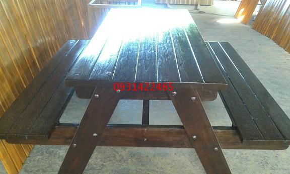 เก้าอี้สนาม,ม้านั่งสนาม, โต๊ะสนามไม้สัก kkw14-12 1