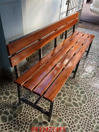 เก้าอี้สนาม, ม้านั่งสนามไม้ระแนง ขาเหล็ก kkw14-11 2