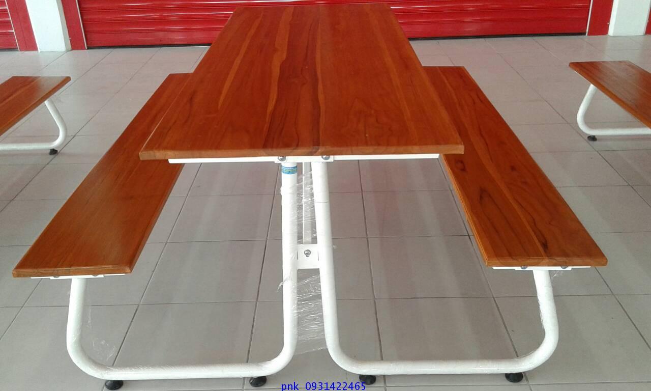 โต๊ะโรอาหารขา J หน้าไม้สักแผ่นเดียว ขนาด 180ซม. kkw23-2 1