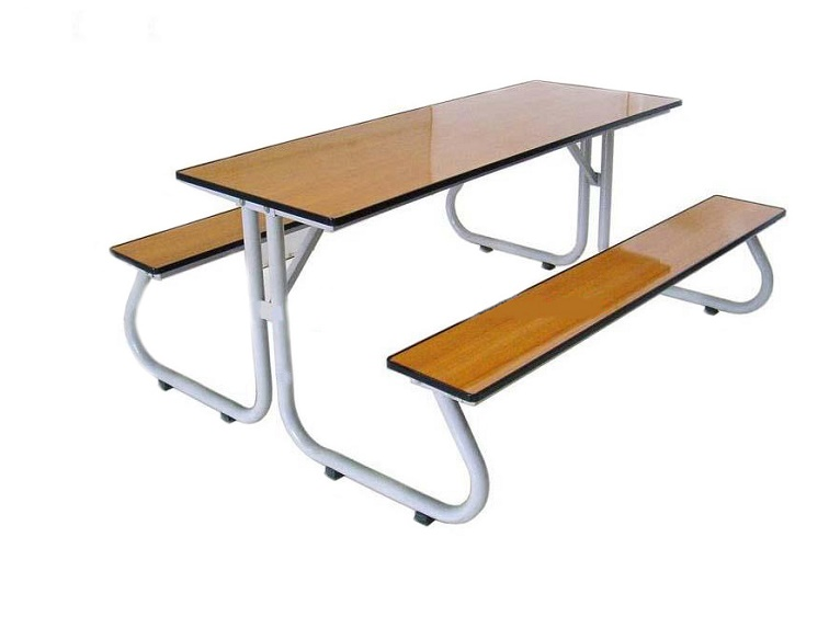 โต๊ะโรงอาหารขา J หน้าโฟเมก้าลายไม้ แบบตัน ขนาด 180ซม. kkw23-5
