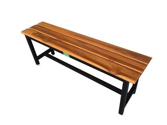 เก้าอี้สนาม,ม้านั่งสนามไม้สักทอง ตีระแนง ไม้หน้า 4 นิ้ว ยาว 1.20เมตร kkw14-2