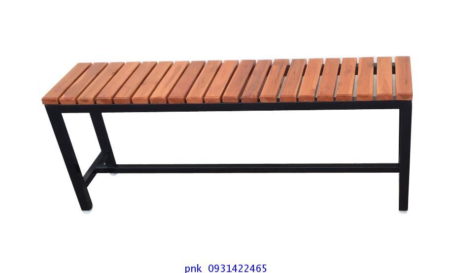 เก้าอี้สนาม,ม้านั่งสนามไม้สักทองตีระแนงแนวขวาง ไม้หน้า 2นิ้ว ยาว 1.20เมตร kkw14-3 1