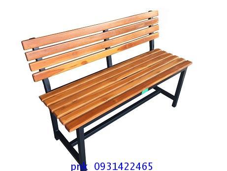 เก้าอี้สนาม ม้านั่งสนามไม้ระแนงหน้า 2นิ้ว มีพนักพิงหลัง ยาว 1.20เมตร kkw14-4