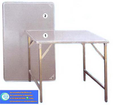 โต๊ะพับขาสวิง สแตนเลสทั้งตัว kkw2-13