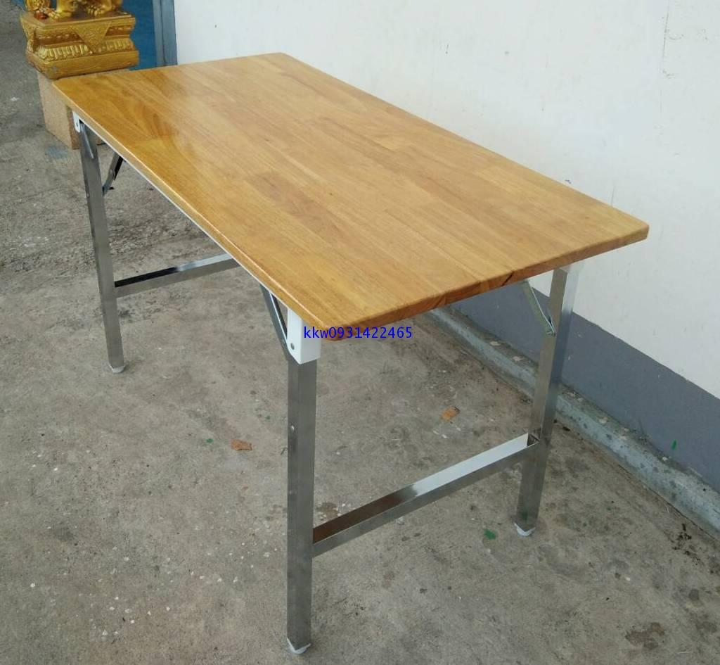 โต๊ะพับเอนกประสงค์หน้าไม้ยางพารา kkw2-38