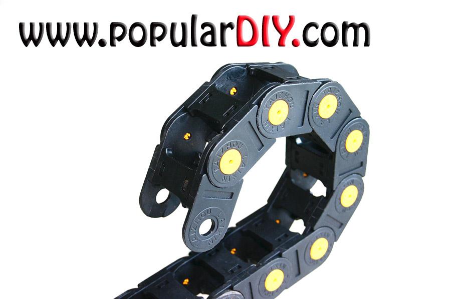 Chain carrier cable รางกระดูกงู รองรับสายไฟ ขนาดช่องรางภายใน 25*38 มม.
