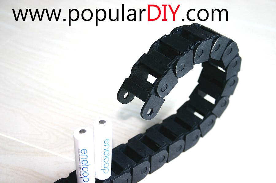 Chain carrier cable รางกระดูกงู รองรับสายไฟ ขนาดช่องภายในราง 15*20 มม.