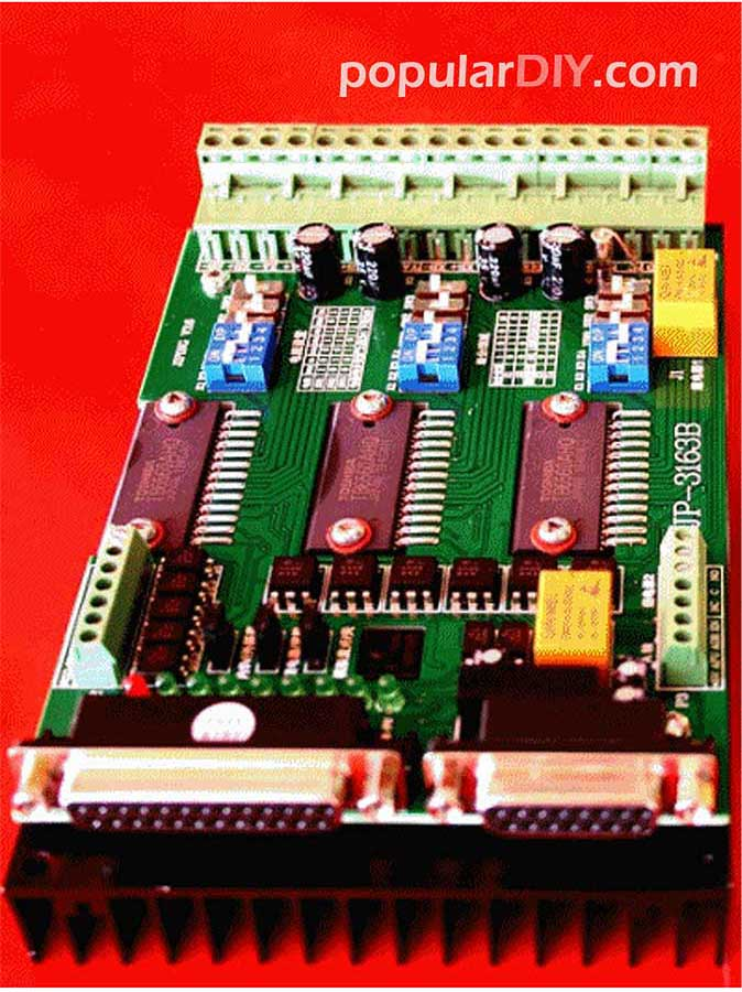 CNC 3 Axis Controller มี PWM 0-10 V. ควบคุมความเร็ว Spindle ได้