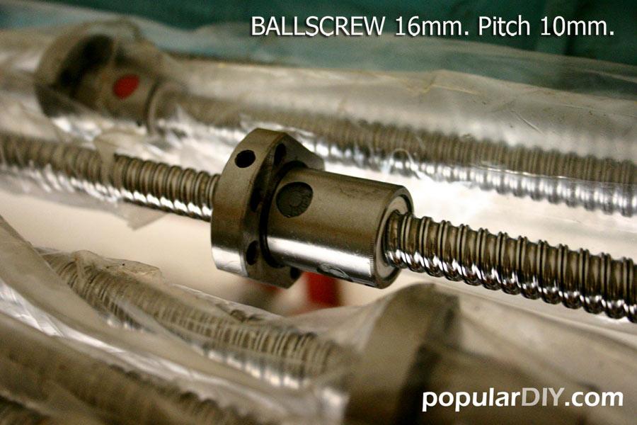 Ballscrew 1610 ขนาด16mm. Pitch 10mm.