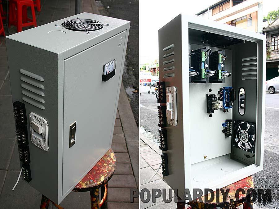 ตู้ Controller บอร์ด 4 แกน drive แยก 4.2 Amp