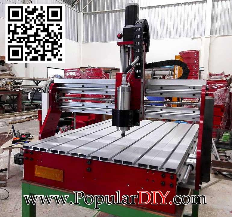 เครื่อง CNC แบบ 3 แกน 60*90 หัวกัดระบายความร้อนด้วยน้ำ 800W