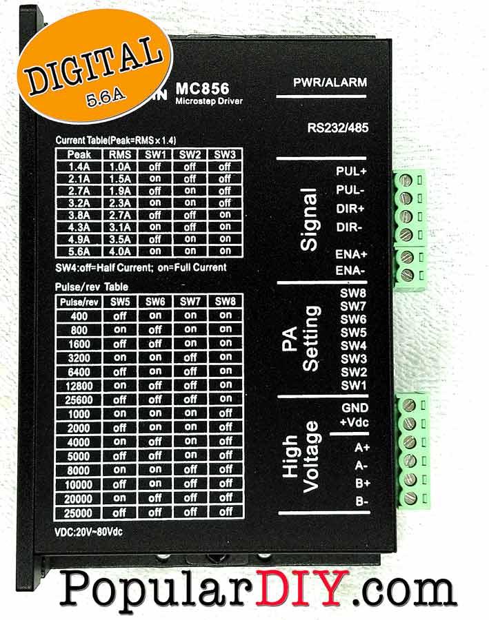 Digital Steping motor  Driver ขนาด 5.6 Amp ระบบดิจิตอล