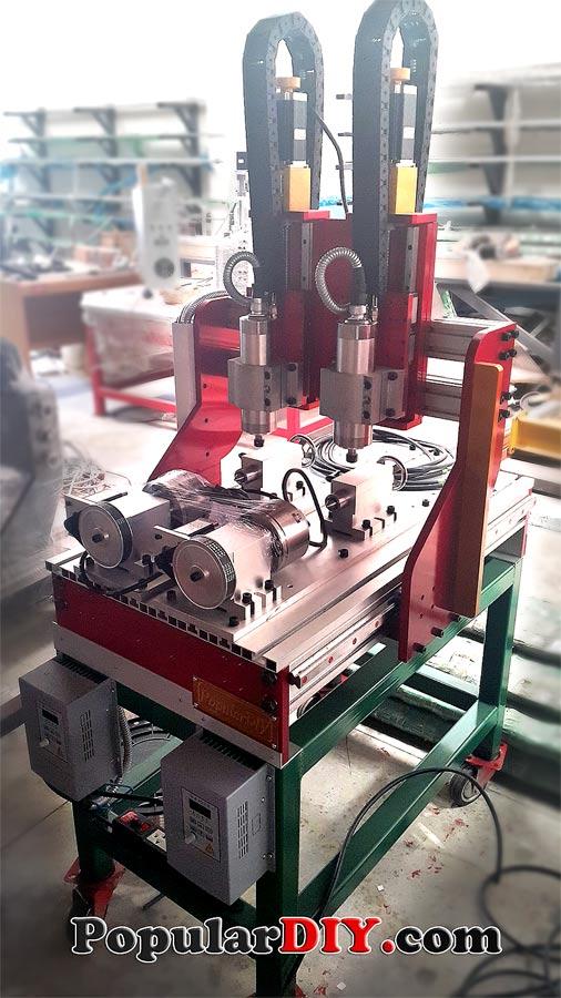 เครื่อง CNC สำหรับกัดเหยี่อปลอม กบกระโดด หรือกัดงานรอบตัว