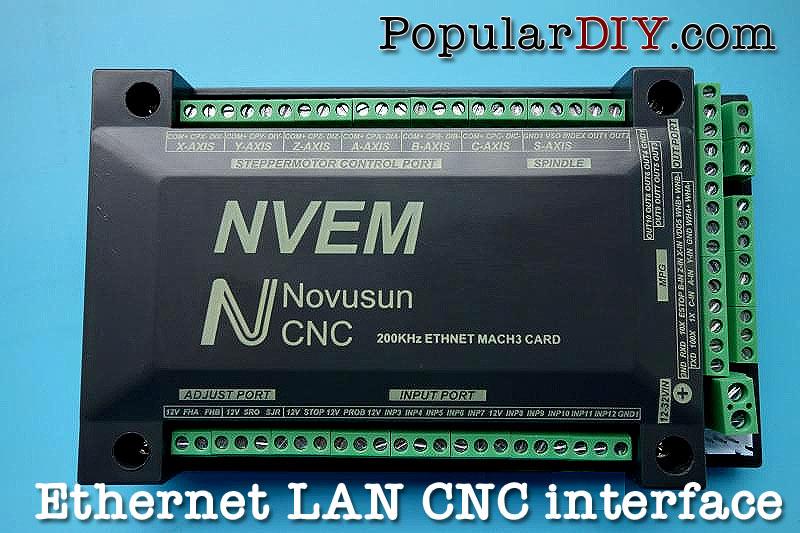 LAN port CNC interface board ความถึ่สูงสุด 200KHZ