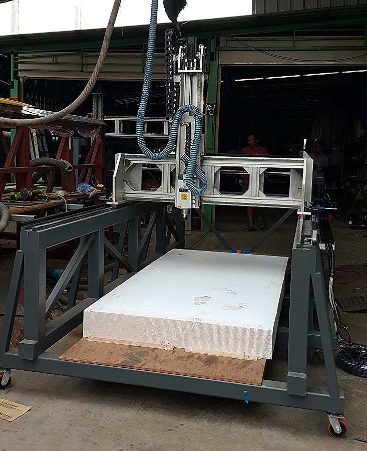 เครื่อง CNC สำหรับกัดโฟม ทำโมเดล หรือม้อคอัพ ขนาดใหญ่