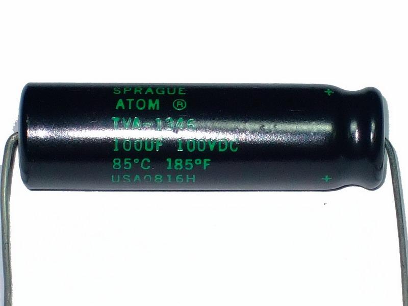 C Sprague ATOM 100uF 100V