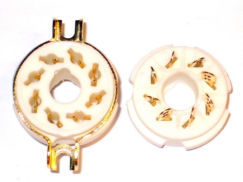A08 Ceramic Socket 8 Pins Gold
