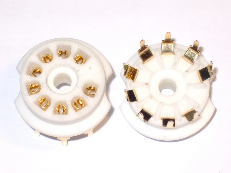 B9A Ceramic Socket 9 Pins PCB Gold