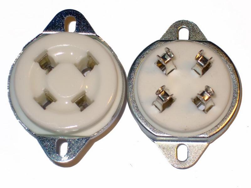 UX-4 Ceramic Socket 4 Pins Small