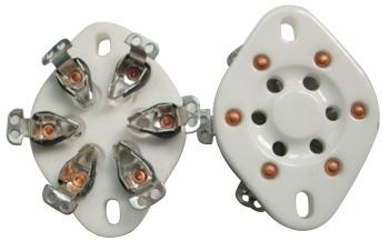 UX-6 Ceramic Socket 6 Pins