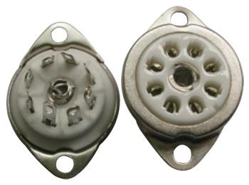 B8A Ceramic Socket 8 Pins Rimlock